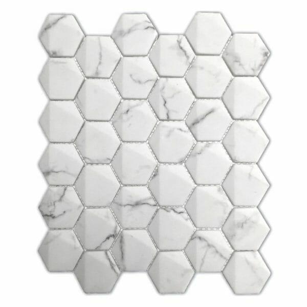hexagon-marble-statuario-white-mosaic-tile