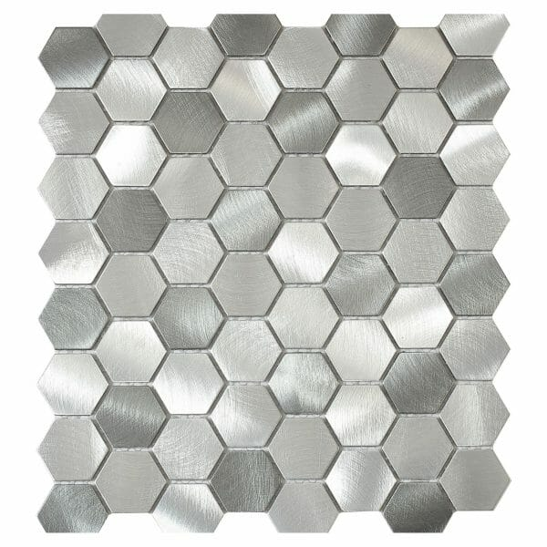 intermatex-element-13-silver-hexagonal-mosaic-tile