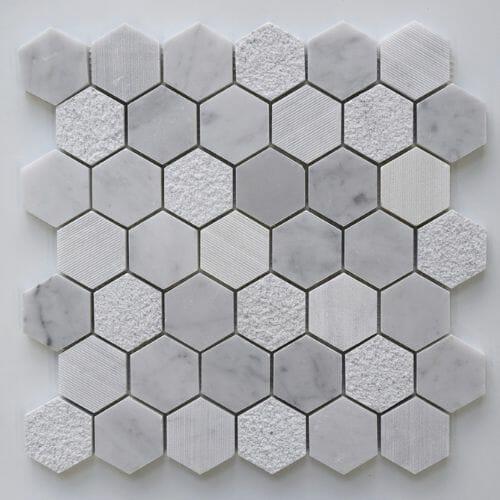mixed-hexagon-mosaic-tiles