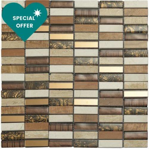 Africa-tiger-brown-mosaic-tile