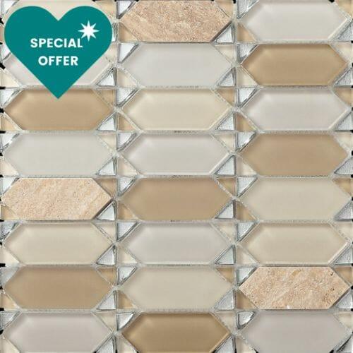 beige-chevron-diamond-mosaic-tiles